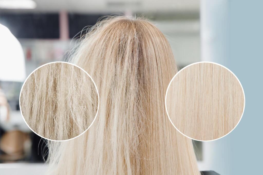 Blonde Haare mit Thermocut beimFriseur Poppenbüttel Hamburg